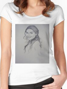 A Woman Sketch Women's Fitted Scoop T-Shirt
