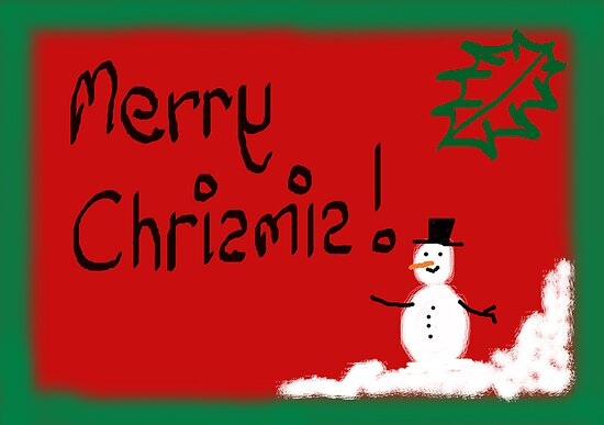 Snowman christmas card by TonyFlanigan