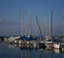 A Blue Day - Lake Geneva by oscars