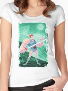 Lion-O, Thundercats  Women's Fitted Scoop T-Shirt