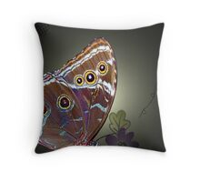 HELLO Butterfly Throw Pillow
