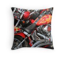Hot Harleys Throw Pillow