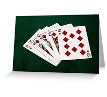 Poker Hands - Royal Flush Diamonds Suit Greeting Card
