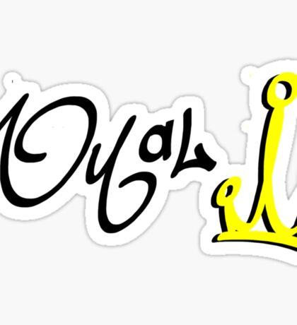 Royal Crown. Sticker