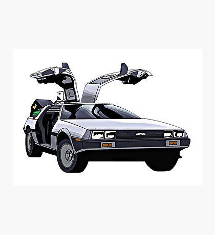 DeLorean Photographic Print