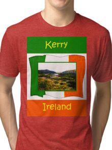 jGibney Ireland 1999 Kerry Lake District Kerry Ireland Flag T-Shirt wb The MUSEUM Red Bubble Gifts Tri-blend T-Shirt