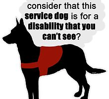 Service Dogs for Invisible Disabilities by tiewolf