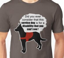 Service Dogs for Invisible Disabilities Unisex T-Shirt