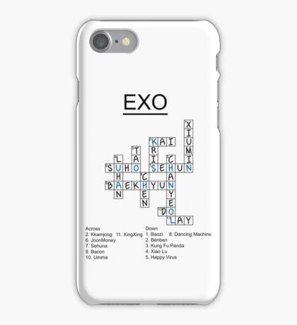 Exo Crossword Puzzle iPhone Case/Skin