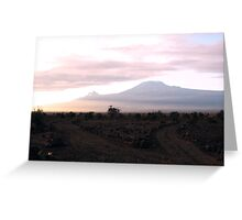 Kilimanjaro Dawn Greeting Card