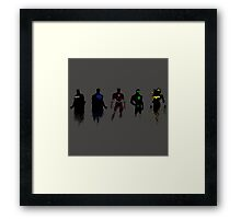 Justice League Minimal Framed Print