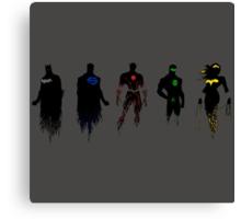 Justice League Minimal Canvas Print
