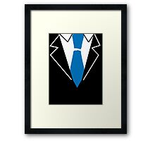 Blue Tie Suit Framed Print