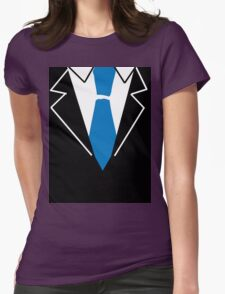 Blue Tie Suit Womens Fitted T-Shirt
