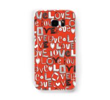 l o v e LOVE red Samsung Galaxy Case/Skin