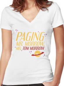 Mr. Morrow Women's Fitted V-Neck T-Shirt