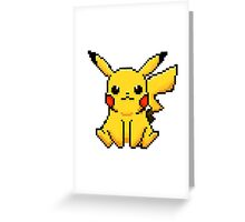 Pixel Pikachu! Greeting Card