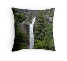 Lower Yosemite Fall Vista Throw Pillow