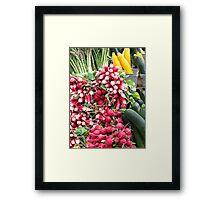 Market Day Veggies Framed Print