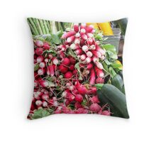 Market Day Veggies Throw Pillow
