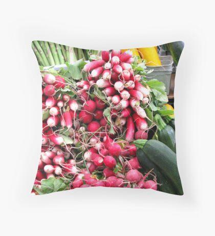 Market Day Veggies Throw Pillow