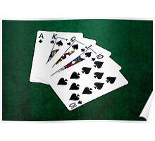 Poker Hands - Royal Flush Spades Suit Poster