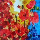 Poppy explosian3/ Watercolour by Jennib