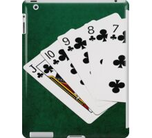 Poker Hands - Straight Flush Clubs Suit iPad Case/Skin