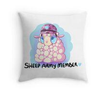 Sheep Army - Original Color Throw Pillow