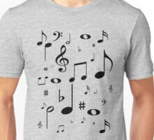 Music note black Unisex T-Shirt