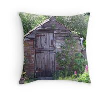 Old privy Throw Pillow
