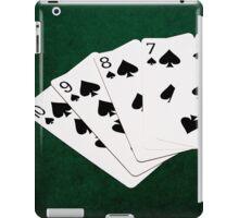 Poker Hands - Straight Flush Spades Suit iPad Case/Skin