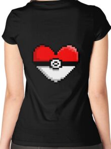 PokeHeart Women's Fitted Scoop T-Shirt