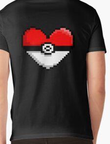 PokeHeart Mens V-Neck T-Shirt