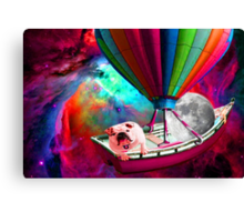 Galaxy Space Dog Canvas Print