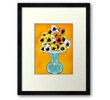 Curly Tulips Framed Print