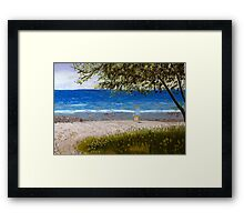 A Day Away Pastel Framed Print