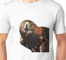 Golden eagle looking at camera  Unisex T-Shirt