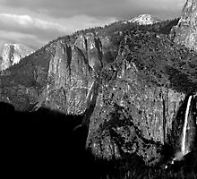 Bridalveil Fall & Half Dome by Benjamin Padgett