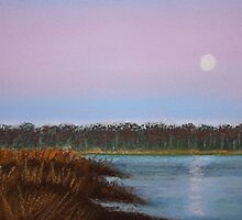 Evening Reflection Pastel by AngelaBishop