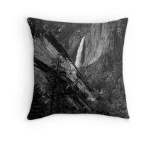 Upper Yosemite Fall, Mist Trail View Throw Pillow