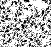 Growing Sprouts Zentangle Sticker