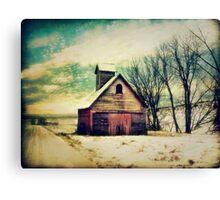 Little Sioux Corn Crib Canvas Print
