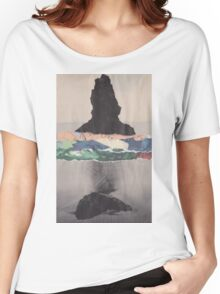 Colored Waves T-shirt femme coupe relax