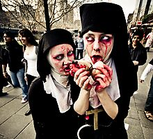 Pair of Zombie Nuns by Reg  Lyons