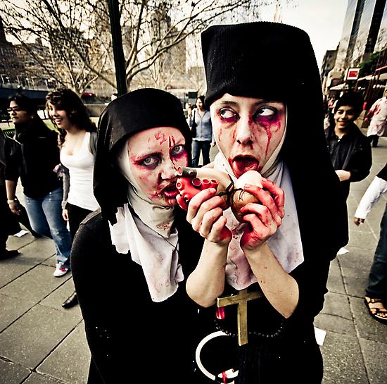 Pair of Zombie Nuns by Reg  Lyons