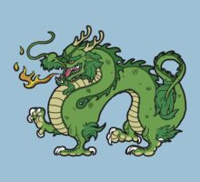 Chinese Dragon - Green One Piece - Short Sleeve