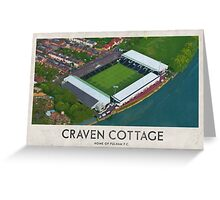 Vintage Football Grounds - Craven Cottage (Fulham FC) Greeting Card