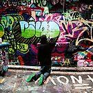Color Coordinated-Graffiti  Melbourne by Rosina  Lamberti