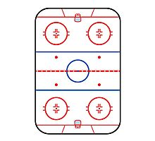 Ice Rink Diagram Hockey Game Companion Photographic Print